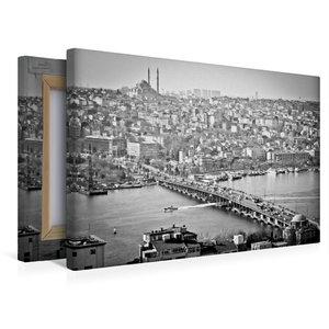 Premium Textil-Leinwand 45 cm x 30 cm quer Galata Köprüsü und St