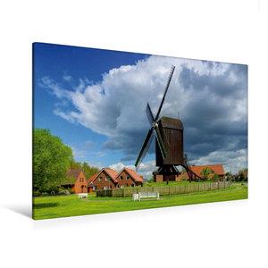 Premium Textil-Leinwand 120 cm x 80 cm quer Bockwindmühle Papenb