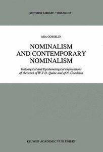 Nominalism and Contemporary Nominalism