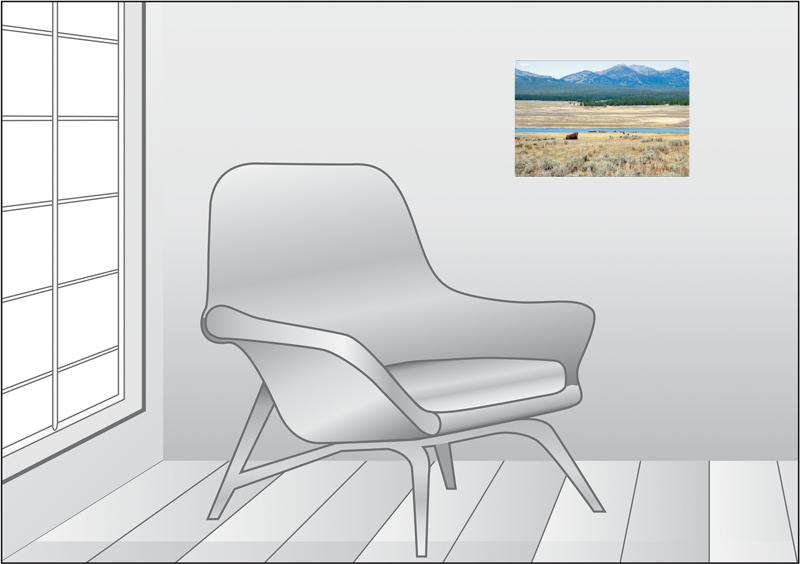 Premium Textil-Leinwand 45 cm x 30 cm quer Wandbild Hayden Valle - zum Schließen ins Bild klicken