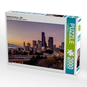 Seattle Downtown - USA 2000 Teile Puzzle quer