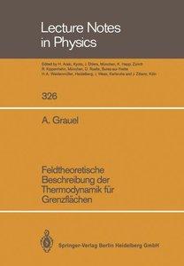 Feldtheoretische Beschreibung der Thermodynamik für Grenzflächen