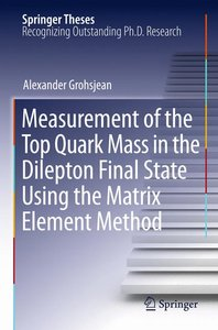 Measurement of the Top Quark Mass in the Dilepton Final State Us