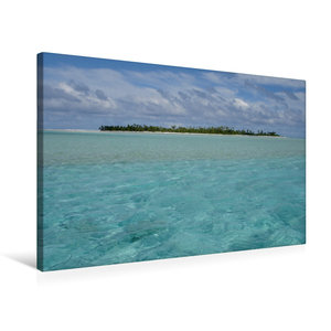 Premium Textil-Leinwand 75 cm x 50 cm quer Cookinseln
