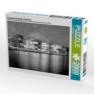 Innenhafen bei Nacht in Duisburg 2000 Teile Puzzle quer