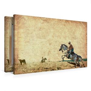 Premium Textil-Leinwand 75 cm x 50 cm quer Wild West