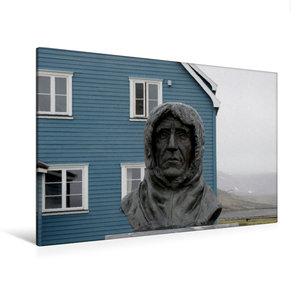 Premium Textil-Leinwand 120 cm x 80 cm quer Statue des erfolgrei