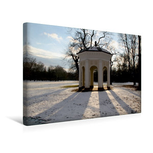 Premium Textil-Leinwand 45 cm x 30 cm quer Tempel im Clara-Zetki