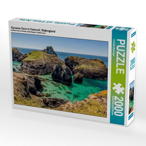 Kynance Cove in Cornwall, Südengland 2000 Teile Puzzle quer