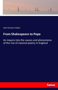 From Shakespeare to Pope
