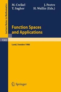 Function Spaces and Applications