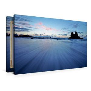 Premium Textil-Leinwand 90 cm x 60 cm quer Playa de Benijo