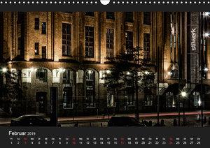 HAMBURG - NIGHTFLIGHT (Wandkalender 2019 DIN A3 quer)