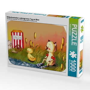 Wildschweinchen verbringt einen Tag am Meer 1000 Teile Puzzle qu