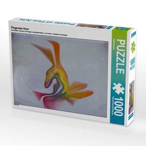 Fliegender Hase 1000 Teile Puzzle quer
