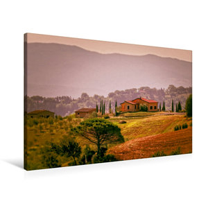 Premium Textil-Leinwand 90 cm x 60 cm quer Toskana