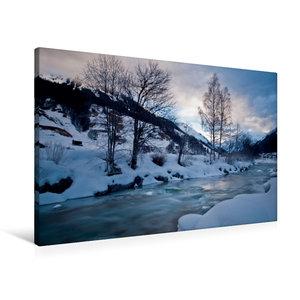 Premium Textil-Leinwand 90 cm x 60 cm quer Frostiger Winter