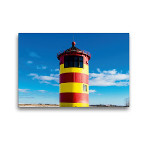 Premium Textil-Leinwand 45 cm x 30 cm quer Pilsumer Leuchtturm