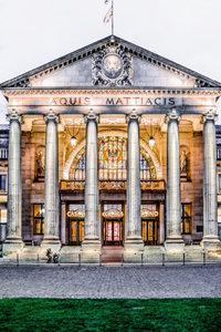Premium Textil-Leinwand 30 cm x 45 cm hoch Wiesbaden