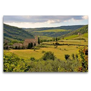 Premium Textil-Leinwand 120 cm x 80 cm quer Kloster Sant Antimo