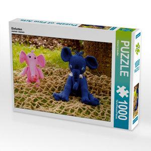 Elefanten 1000 Teile Puzzle quer