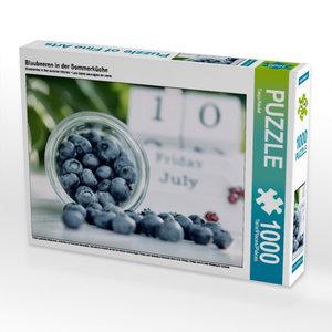 Blaubeeren in der Sommerküche 1000 Teile Puzzle quer