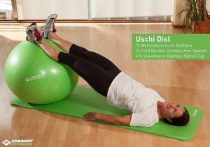 Schildkröt 960057 - Fitness Gymnastikball, limegreen, 75 cm