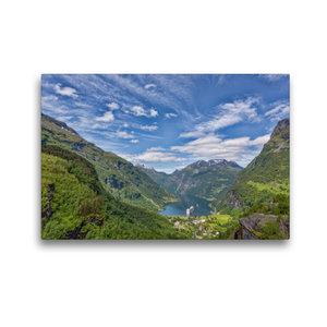 Premium Textil-Leinwand 45 cm x 30 cm quer Geirangerfjord