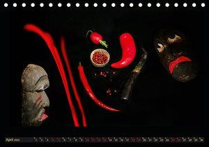 Scharfe Chili Fantasien - Creative Food Design (Tischkalender 20