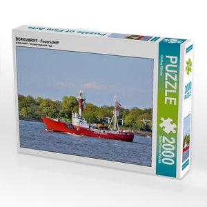 CALVENDO Puzzle BORKUMRIFF - Feuerschiff 2000 Teile Lege-Größe 9