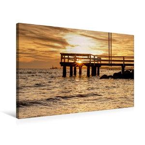 Premium Textil-Leinwand 75 cm x 50 cm quer Sonnenuntergang