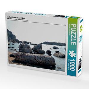 Antike Säulen an der Küste 1000 Teile Puzzle quer