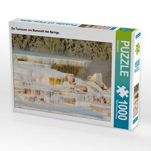 CALVENDO Puzzle Die Terrassen von Mammoth Hot Springs. 1000 Teil