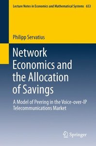 Network Economics and the Allocation of Savings
