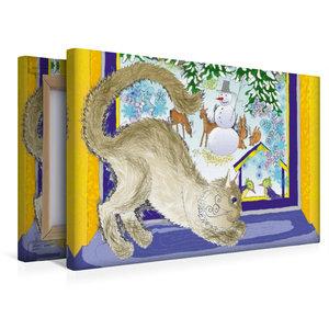 Premium Textil-Leinwand 45 cm x 30 cm quer Am Fenster