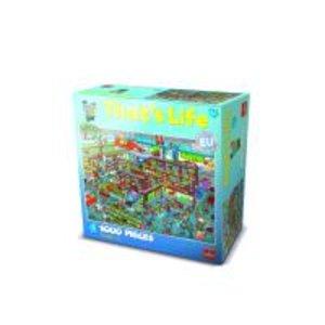 Goliath 71307006 - Thats Life Wimmel Puzzle Supermarkt, 1000 Tei