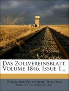 Das Zollvereinsblatt, Volume 1846, Issue 1...