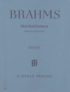 Variationen op. 21, Nr. 1 und 2