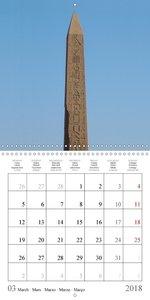 L\'Égypte ancienne dans la pierre (Calendrier mural 2018 300 × 3