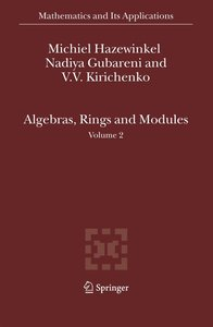 Algebras, Rings and Modules 2
