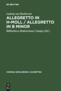 Allegretto in h-Moll / Allegretto in B minor / Ludwig van Beetho
