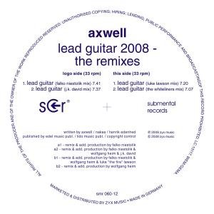 Lead Guitar 2008-The Remixes