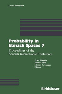 Probability in Banach Spaces 7
