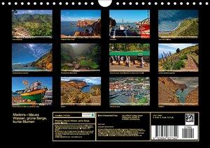 Madeira - blaues Wasser, grüne Berge, bunte Blumen (Wandkalender