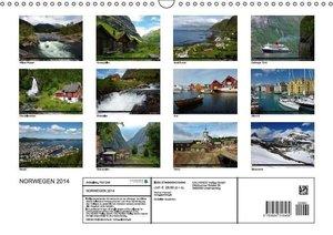 Norwegen 2014 (Wandkalender 2014 DIN A3 quer)