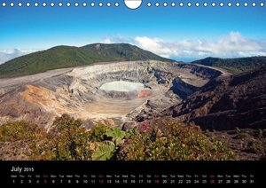 Costa Rica Volcanoes and Rainforest (Wall Calendar 2015 DIN A4 L