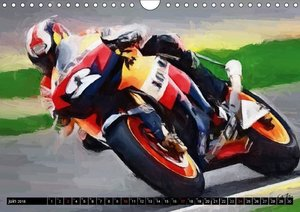 Les motos GP (Calendrier mural 2018 DIN A4 horizontal)