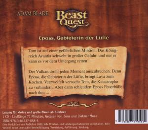 Beast Quest 06. Eposs, Gebieterin der Lüfte - zum Schließen ins Bild klicken