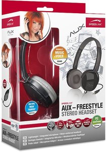 AUX - FREESTYLE Stereo Headset, black-grey SL-8752-BKGR