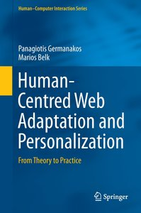 Human-Centred Web Adaptation and Personalization